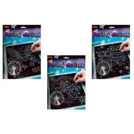 SMT Creatoys Perlový obrázek 200ks barevných perel 20,3x25,4cm asst 3 druhy na kartě