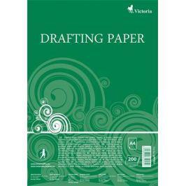 VICTORIA Papír na technické výkresy, čtvrtky, A4, 200 listů,