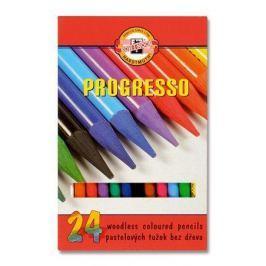 KOH-I-NOOR Barevné pastelky Progresso 8758/24, 24ks, bez dřeva,