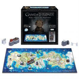 4D Cityscape 4D puzzle Hra o trůny - Mini mapa Západozemí (Westeros)