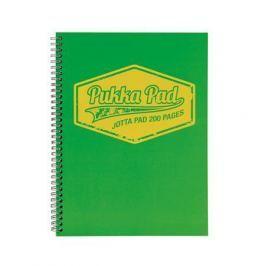 PUKKA PAD Blok Jotta Neon, zelená, A5, linkovaný, 100 listů, spirálová vazba,