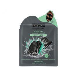 Freeman Detoxikační látková maska Aktivní uhlí a mořská sůl (Detoxifying Sheer Mask) 25 ml