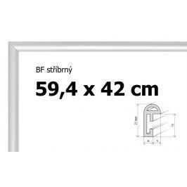 BFHM Stříbrný plastový rám na puzzle 42 x 59,4 cm, formát A2