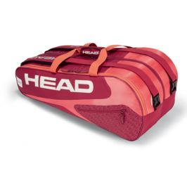 Head Taška na rakety  Elite Supercombi 9R Red/Pink