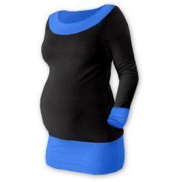 Dovoz EU Těhotenska tunika DUO - černá/modrá, L/XL