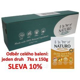 Naturo Adult Chicken, Lamb&Rice with Veget. 150g-10KS-AKCE 10%-14048
