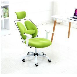 Tempo Kondela Kancelářské křeslo s opěrkou hlavy, zelená / bílá, BENNO UT-C568X