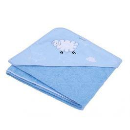 Ty i My Osuška s kapucí  100 x 100cm - Ovečka Fluffy - modrá