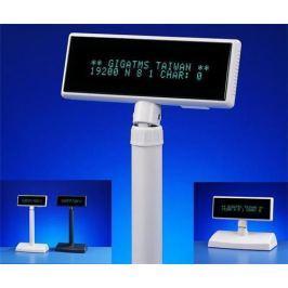 Displej Giga DSP-840U-00, zákaznický displej 2x20 znaků, USB, white
