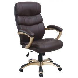 Tempo Kondela Kancelářská židle, ekokůže hnědá / plast, GORDON