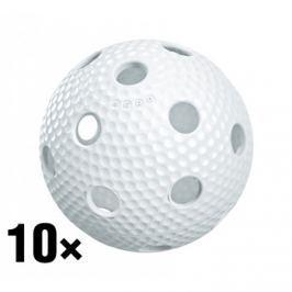Salming 10x florbalový míček  Aero Plus, zelená
