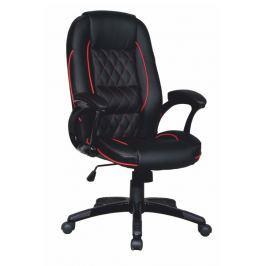 Tempo Kondela Kancelářská židle, ekokůže černá / červený lem, PORSHE