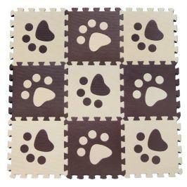 BABY Pěnové puzzle  KOUTEK Hnědé tlapky 9 dílů (B)