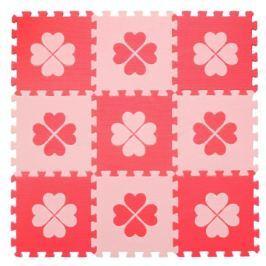 BABY Pěnové puzzle  KOUTEK Červené čtyřlístky 9 dílů (Č)