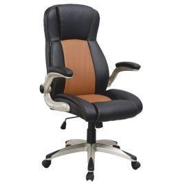 Tempo Kondela Kancelářská židle, ekokůže světle hnědá + černá / plast, KNOX