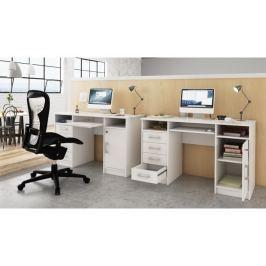 Tempo Kondela PC stolek, bílá, B9 NEW