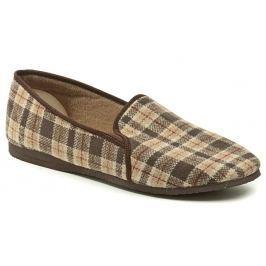 Pegres 1014 nadměrná hnědá domácí obuv, 47