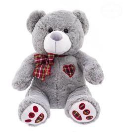 EURO BABY Plyšový medvídek 43cm - šedý
