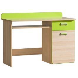 Tempo Kondela PC stůl, jasan/zelený, EGO L10