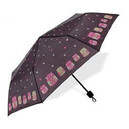 Albi Skládací deštník se sovami a se srdíčky