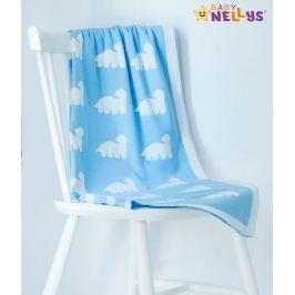 Baby Nellys Dečka z úpletu  ® DINO - sv. modrá