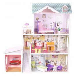ECO TOYS Dřevěný domek pro panenky s garáží  - Rezidence Beverly Hills