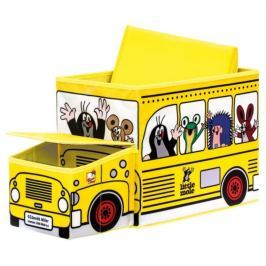 BINO Poškozený obal: Krteček - krabice na hračky autobus  13793
