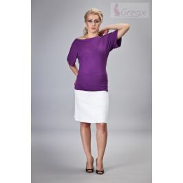 Dovoz EU Elegantní těhotenská sukně DENIM - bílá, S
