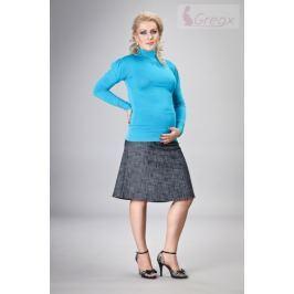Dovoz EU Elegantní těhotenská sukně DENIM - granát, M