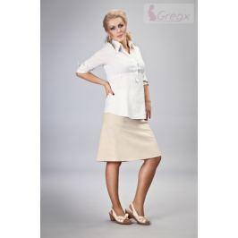Dovoz EU Elegantní těhotenská sukně DENIM - béžová, XL