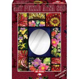 ART PUZZLE Puzzle se zrcadlem Květinová mozaika 850 dílků