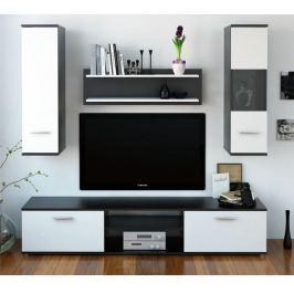 Tempo Kondela Obývací stěna, černá / bílá, WAW