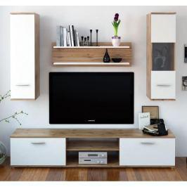 Tempo Kondela Obývací stěna, dub wotan / bílá, WAW