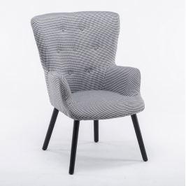 Tempo Kondela Designové křeslo, látka drobný vzor, černé nohy, BRANDO