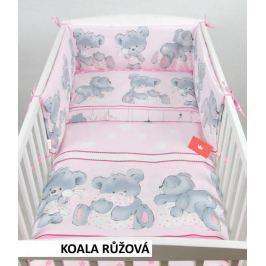 Povlečení + mantinely do postýlky -koala růžová