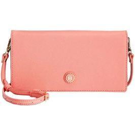 Tommy Hilfiger Elegantní růžová kabelka  TH Enamel-Serif Convertible Crossbody Clutch