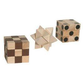 Dřevěný hlavolam - Set tří hlavolamů