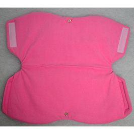 Rukávník ELFan ke kočárku nebo saním s fleecem -dark pink + růžová
