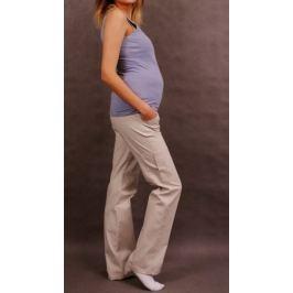 Dovoz EU Těhotenské kalhoty s boční kapsou - tm. béžová, XXXL