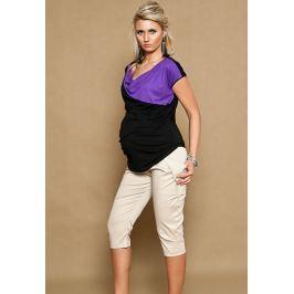 IZABELLA HETNAR Těhotenské kalhoty ALADINKY 3/4- béžové, vel. XXXL, XXXL