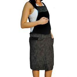 Dovoz EU Těhotenské šaty/sukně s láclem - černý melírek, XL