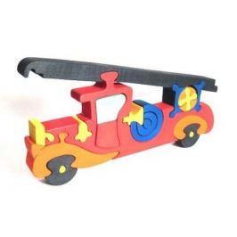 FAUNA Dřevěné puzzle z masivu  Hasičské auto velké