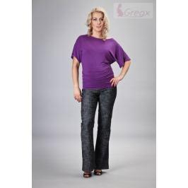 Dovoz EU Elegantní těhotenské kalhoty JEANS - černý melír, XL