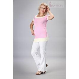 Dovoz EU Elegantní těhotenské kalhoty JEANS - bílá, XXXL
