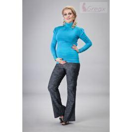 Dovoz EU Elegantní těhotenské kalhoty JEANS - granátový melír, M