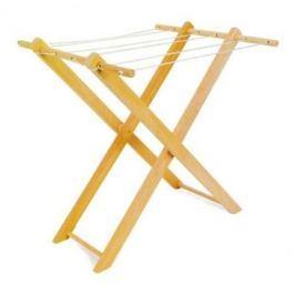 Dřevěné hračky pro holky - Dětský dřevěný sušák na prádlo - poškozený obal