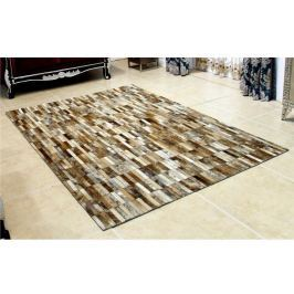 Tempo Kondela Luxusní koberec, kůže, typ patchworku, 120x180 cm, KOBEREC KOŽA typ5