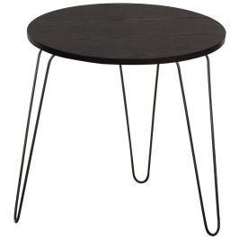 Tempo Kondela Příruční stolek, černý dub / černá, RONIN