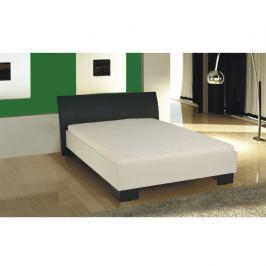 Tempo Kondela Manželská postel, ekokůže černá/bílé lamino, 160x200, TALIA