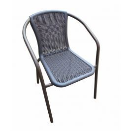 Tempo Kondela Židle, stohovatelná, tmavě šedá / nohy černý kov, VARDA